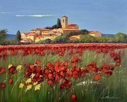 Il Villaggio I by Bruno Tinucci -  sized 39x32 inches. Available from Whitewall Galleries